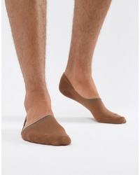 ASOS DESIGN Invisible Liner Socks In Medium Skintone