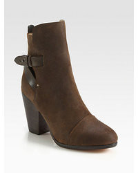 Rag and Bone Rag Bone Kinsey Nubuck Leather Ankle Boots