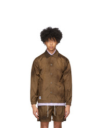 Nanushka Brown Tie Dye Terry Jacket