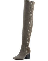 Jimmy Choo Harlem Suede Studded Over The Knee Boot