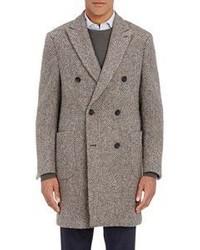 Aquascutum London Aquascutum Tweed Double Breasted Coat Brown