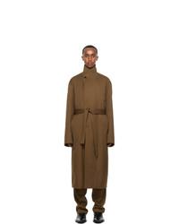 Lemaire Brown Gabardine Tibetan Coat