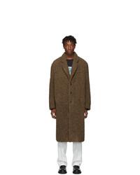 Neil Barrett Brown Oversized Eco Fur Coat