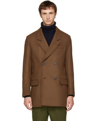 AMI Alexandre Mattiussi Brown Wool Double Breasted Coat