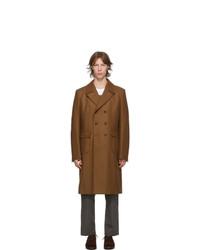 Junya Watanabe Brown Wool Melton Coat