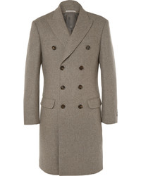 Brunello Cucinelli Double Breasted Wool Overcoat