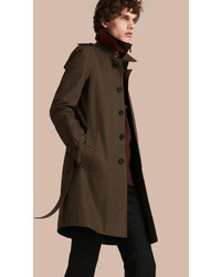 Burberry Military Detail Cotton Trench Coat