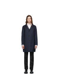 Giorgio Armani Reversible Navy Cashmere Coat