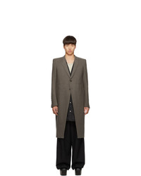 Rick Owens Taupe Oyster Overcoat