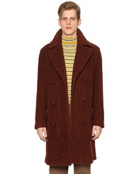Teddy double breasted mixed wool coat medium 4416639