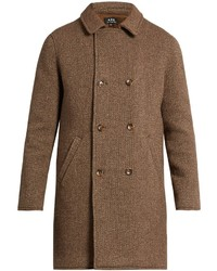 A.P.C. Time Double Breasted Wool Blend Coat