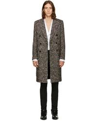 Saint Laurent Tricolor Double Breasted Wool Coat