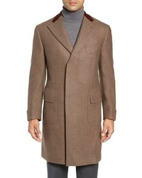 Boglioli Trim Fit Wool Chesterfield Coat