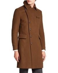 Giorgio Armani Virgin Wool Military Coat