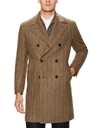 Luciano Barbera Wool Double Breasted Coat