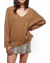 Free People Fringe Trim Sweater