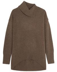 Oversized wool turtleneck sweater brown medium 5083747