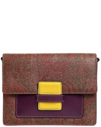 Etro Rainbow Paisley Leather Shoulder Bag