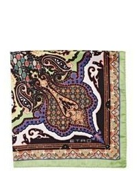 Etro Abstract Paisley Pocket Square