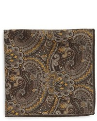 Robert Talbott Paisley Floral Wool Pocket Square