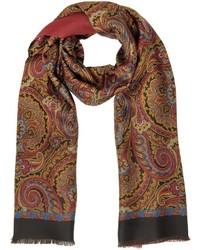 Paisley print silk modal reversible scarf medium 1314708