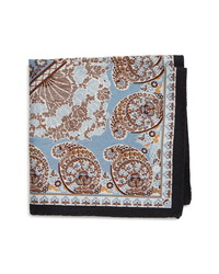 Eton Paisley Cotton Silk Pocket Square