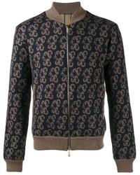 Etro Knitted Paisley Bomber Jacket
