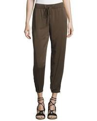 Eileen Fisher Tencel Twill Drawstring Pants Plus Size