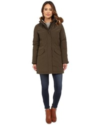 Cole Haan Down Parka With Sherpa Faux Fur Hood Lining