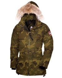 Solaris regular fit down parka with genuine coyote fur medium 517136