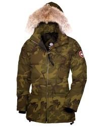 Solaris regular fit down parka with genuine coyote fur medium 517136