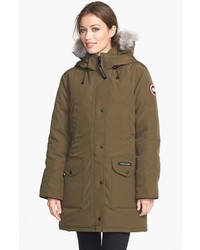 Trillium regular fit down parka with genuine coyote fur trim medium 369091