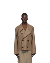 Hed Mayner Brown Wool Double Breasted Jacket