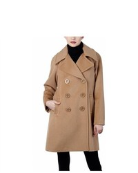 Phistic double breasted wool blend pea coat medium 453187