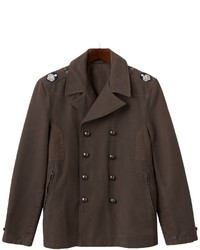 R and o double breasted military peacoat medium 354543