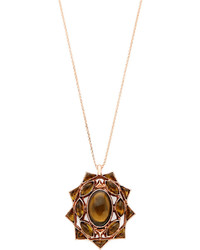 House Of Harlow Brown Sea Stones Pendant Necklace