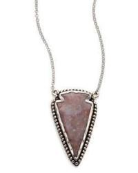 Pamela Love Jasper Sterling Silver Arrowhead Pendant Necklace