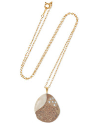 Cvc Stones Orso 18 Karat Gold Stone And Diamond Necklace