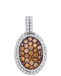 SEA Of Diamonds 099ct Dia Brown Diamond Fashion Pendant