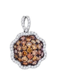 SEA Of Diamonds 181ct Dia Brown Diamond Flower Pendant