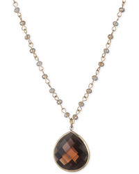 lonna & lilly Teardrop Stone Pendant Necklace