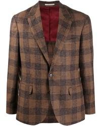 Brunello Cucinelli Deconstructed Check Pattern Blazer