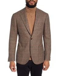 Ring Jacket Fit Glen Plaid Sport Coat