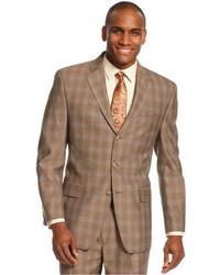 Sean John Light Brown Plaid Jacket