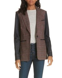 Veronica Beard Mela Denim Sleeve Dickey Jacket