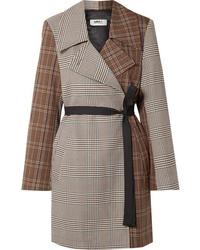 MM6 MAISON MARGIELA Patchwork Checked Crepe Wrap Jacket