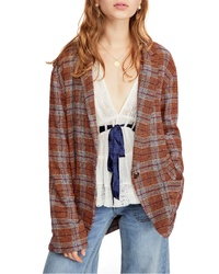 Free People Simply Plaid Blazer
