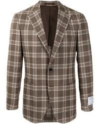 Man On The Boon. Single Breasted Plaid Blazer