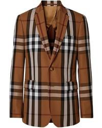 Burberry Slim Fit Check Tailored Blazer