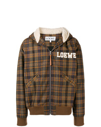 Brown Plaid Bomber Jacket